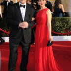 What's going on with Alec Baldwin's hair. Wife Hilaria Thomas looks gorgebags though.