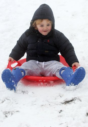 21/01/2013. Snow. Killian McCoy (aged 3 1/2) from