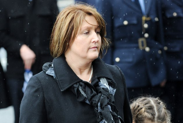 30/01/2013. Funeral of Garda Adrian Donohoe. The w