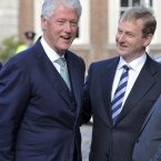 Meeting former US president Bill Clinton. Pic: Sasko Lazarov /Photocall Ireland