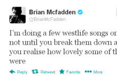Tweet Sweeper: Brian McFadden yearns for the Westlife days