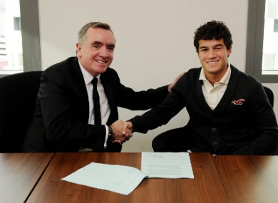 Coutinho with Liverpool chief executive Ian Ayre.