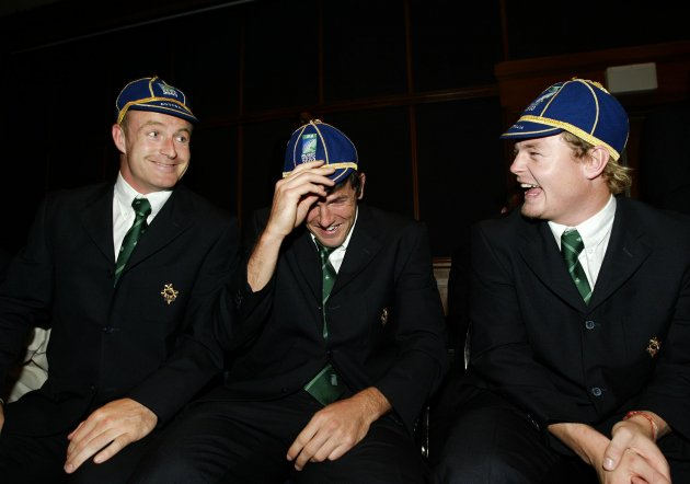 Denis Hickie, Shane Horgan and Brian O'Driscoll 2003