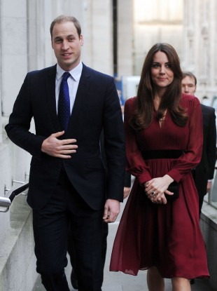 The Duke and Duchess of Cambridge last Friday.