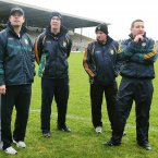 Kerry manager Eamonn Fitzmaurice with his selectors Diarmuid Murphy, Mikey Sheehy and Cian O'Neill. Credit: INPHO/Lorraine O'Sullivan