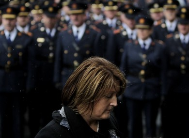 Caroline Donohoe, widow of Detective Garda Adrian Donohoe, at his funeral