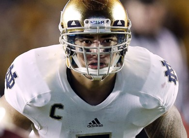 Notre Dame linebacker Manti Te'.