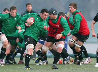 Munster's James Coughlan leads the Wolfhounds.