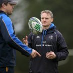Leinster coach Joe Schmidt pushed his players hard today (©INPHO/Donall Farmer).