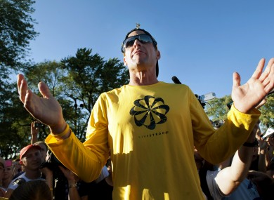 Lance Armstrong: ready to face the music. 