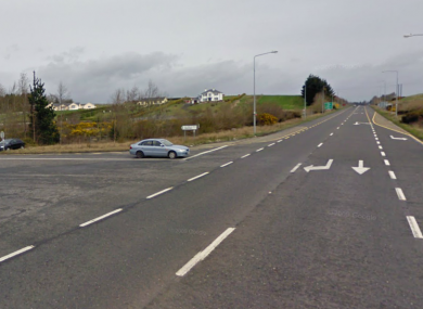 The N5 junction at Lislackagh, close to where this afternoon's incident occurred.