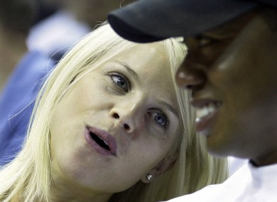 Don't call it a comeback: Tiger and Elin.
