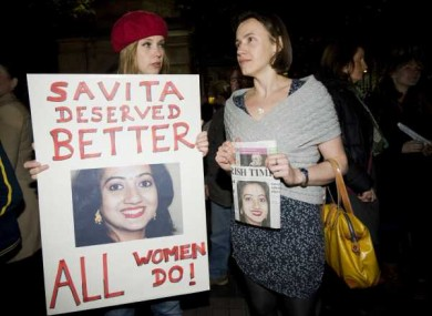 Pro Choice protest in memory of Savita Halappanavar in November.