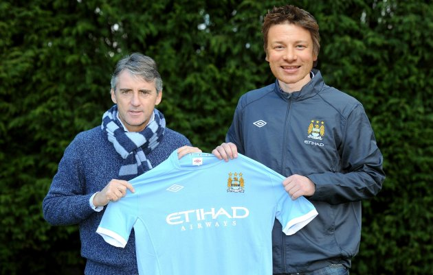 Jamie Oliver signs a five year deal with Man City