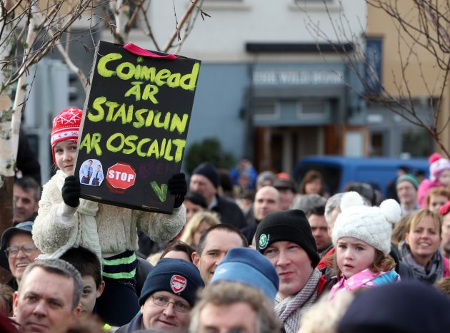 03/02/2013. Protest - Stepaside Garda Station. Hun