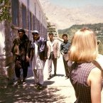 Even in the 60s, this blonde attracted looks in Afghanistan.