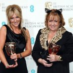 remember the lady with the cat ears from the Oscars luncheon? She won a BAFTA! And she added some animal fur. 