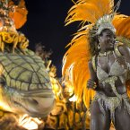 A performer from the Unidos de Vila Isabel samba school (AP Photo/Felipe Dana).