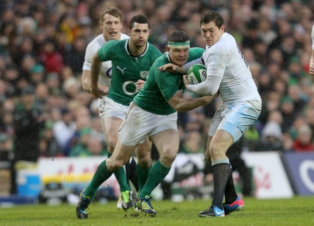 Brian O'Driscoll and Alex Goode 10/2/2013