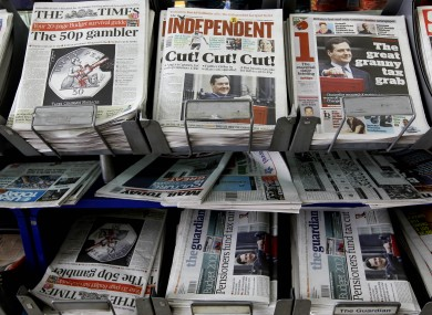 British newspapers (file pic).