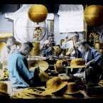 Craftsmen create bronze relics, circa 1897-1900. Flickr/Rob Oechsle (originally T. Enami)