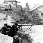 German soldiers use a light machine gun in Stalingrad, Soviet Union, in November 1942 during World War II. (AP Photo)