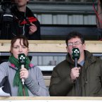 Online commentators Fiona Steed and Adrian O'Farrell. INPHO/Dan Sheridan