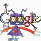Doodle 4 Google finalist Sarah Hewitt from St. Matthew€'s National School, Ballymahon, Longford.