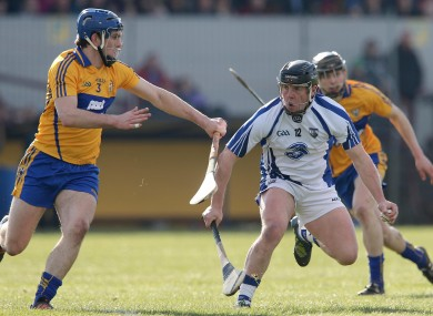 Clare's James McInerney and Waterford's Jake Dillon.