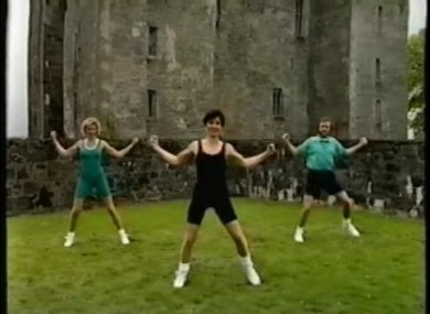 A scene from 'Jig Don't Jog', the Irish exercise video to be featured at Found Footage Festival. We know.