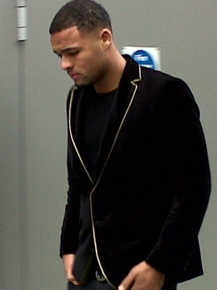 Manchester City youth player Courtney Meppen-Walter, 18, arrives at court.