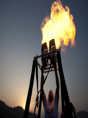 File photo of hot air balloon flames