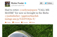 Rickie Fowler is a Belieber: It's the sporting tweets of the week