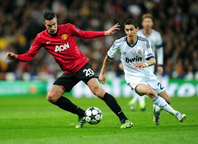 Van Persie wasted one or two good chances for United.