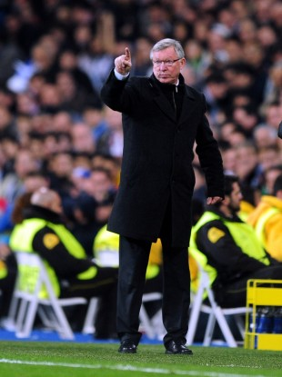 Manchester United manager Sir Alex Ferguson during the UEFA Champions League round of 16 match.