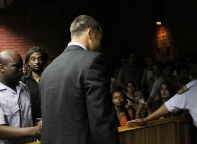 Pistorius in court last Friday.
