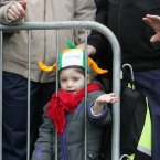 Robin (5) watches today's parade. Photo: Sam Boal/Photocall Ireland