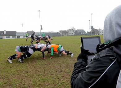 Conor McPhillips video Connacht's scrum training.