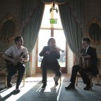 David Power, Martin Hayes and Peadar  Riada perform in ras an Uachtarin at the filming of 'Glaoch - The President's Call'.