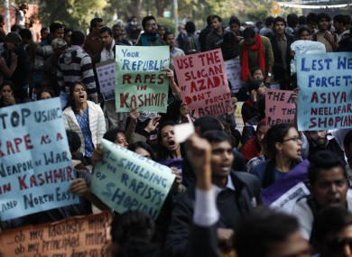 Indians participate in a protest against gender discrimination and sexual violence in New Delhi, India (File photo)
