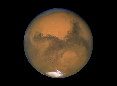This Aug. 26, 2003 image made available by NASA shows Mars photographed by the Hubble Space Telescope on the planet's closest approach to Earth in 60,000 years.