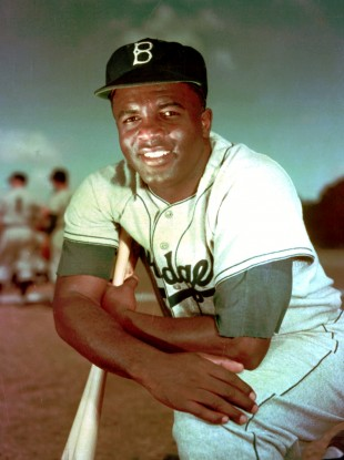 Jackie Robinson broke the colour barrier in American sports.
