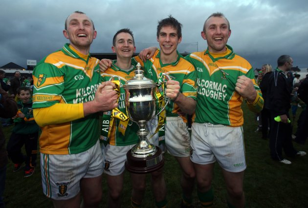 Peter Healion, Ciaran Slevin, Conor Mahon and Ger Healion celebrate with the cup 9/12/2012