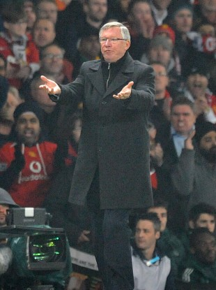 Alex FErguson was furious with the ref's decision.