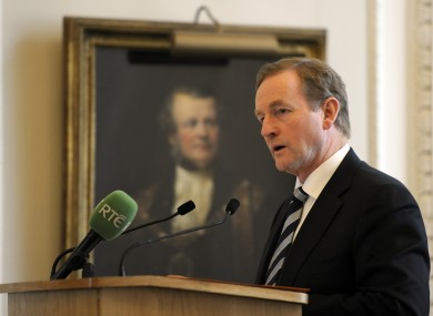 Taoiseach Enda Kenny addresses a business event held at Mansion House in the City of London, where he urged Britain to remain within the European Union.