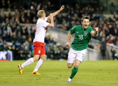 Hoolahan: scored his first international goal against Sweden last month.