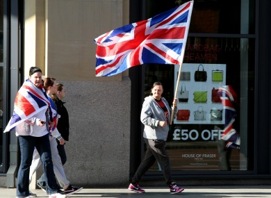 Loyalist flag protests in Belfast city centre after a protest at City hall