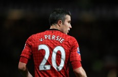 Van Persie treble fires United to 20th title