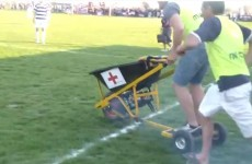 This motorised wheelbarrow is the stretcher of tomorrow in sport