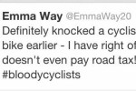 Driver admits hitting cyclist on Twitter; provokes response from police force